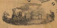 pictorial of a train - Juniata Co., Pennsylvania 1863 Old Town Map Custom Print - Juniata Co.