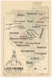 Towns on Source Map - Lackawanna Co., Pennsylvania 1879 - NOT FOR SALE - Lackawanna Co.