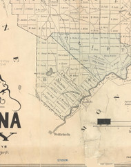 Buck Township, Pennsylvania 1879 Old Town Map Custom Print - Lackawanna Co.