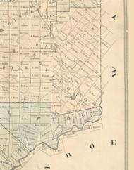 Covington Township, Pennsylvania 1879 Old Town Map Custom Print - Lackawanna Co.