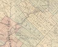 Dickson Township, Pennsylvania 1879 Old Town Map Custom Print - Lackawanna Co.