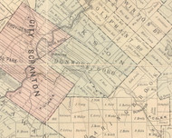 Dunmore Boro Township, Pennsylvania 1879 Old Town Map Custom Print - Lackawanna Co.