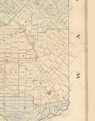 Madison Township, Pennsylvania 1879 Old Town Map Custom Print - Lackawanna Co.