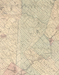Scott Township, Pennsylvania 1879 Old Town Map Custom Print - Lackawanna Co.