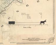 Map Scale and County Statistics - Lackawanna Co., Pennsylvania 1879 Old Town Map Custom Print - Lackawanna Co.