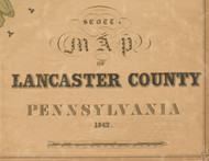 Title of Source Map - Lancaster Co., Pennsylvania 1842 - NOT FOR SALE - Lancaster Co.