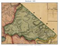 Brecknock Township, Pennsylvania 1858 Old Town Map Custom Print - Lancaster Co.