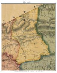 Clay Township, Pennsylvania 1858 Old Town Map Custom Print - Lancaster Co.
