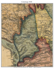 Conestoga Township, Pennsylvania 1858 Old Town Map Custom Print - Lancaster Co.