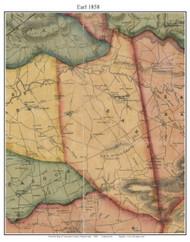 Earl Township, Pennsylvania 1858 Old Town Map Custom Print - Lancaster Co.
