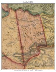East Earl Township, Pennsylvania 1858 Old Town Map Custom Print - Lancaster Co.