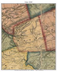 Eden Township, Pennsylvania 1858 Old Town Map Custom Print - Lancaster Co.