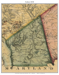 Fulton Township, Pennsylvania 1858 Old Town Map Custom Print - Lancaster Co.