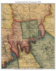 Lancaster Township, Pennsylvania 1858 Old Town Map Custom Print - Lancaster Co.