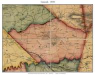 Leacock Township, Pennsylvania 1858 Old Town Map Custom Print - Lancaster Co.