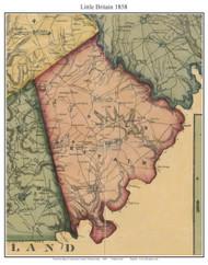 Little Britain Township, Pennsylvania 1858 Old Town Map Custom Print - Lancaster Co.