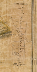 Neffsville - Manheim Township, Pennsylvania 1858 Old Town Map Custom Print - Lancaster Co.