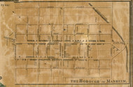 Manheim Borough - Manheim Township, Pennsylvania 1858 Old Town Map Custom Print - Lancaster Co.