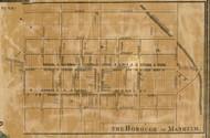 Manheim Borough - Manheim Township, Pennsylvania 1858 Old Town Map Custom Print - Lancaster Co.