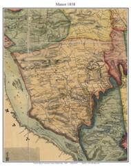 Manor Township, Pennsylvania 1858 Old Town Map Custom Print - Lancaster Co.