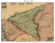 Mount Joy Township, Pennsylvania 1858 Old Town Map Custom Print - Lancaster Co.