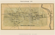 Borough of Mount Joy - Mount Joy Township, Pennsylvania 1858 Old Town Map Custom Print - Lancaster Co.