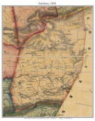 Salisbury Township, Pennsylvania 1858 Old Town Map Custom Print - Lancaster Co.