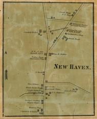 New Haven Village - Warwick Township, Pennsylvania 1858 Old Town Map Custom Print - Lancaster Co.