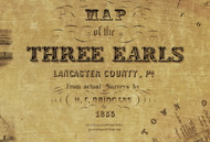 Title of Source Map - Three Earls - Lancaster Co., Pennsylvania 1855 - NOT FOR SALE - Lancaster Co.