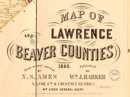 Title of Source Map - Lawrence Co., Pennsylvania 1860 - NOT FOR SALE - Lawrence Co.