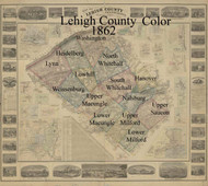 Title of Source Map - Lehigh Co., Pennsylvania 1862 - NOT FOR SALE - Lehigh Co.