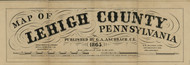 Title of Source Map - Lehigh Co., Pennsylvania 1865 - NOT FOR SALE - Lehigh Co.
