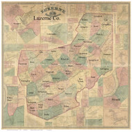 Towns on Source Map - Luzerne Co., Pennsylvania 1864 - NOT FOR SALE - Luzerne Co.