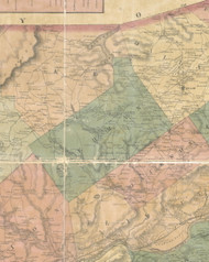 Lehman Township, Pennsylvania 1864 Old Town Map Custom Print - Luzerne Co.