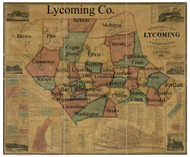Towns on Source Map - Lycoming Co., Pennsylvania 1861 - NOT FOR SALE - Lycoming Co.