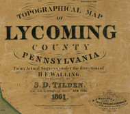 Title of Source Map - Lycoming Co., Pennsylvania 1861 - NOT FOR SALE - Lycoming Co.