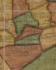 Bastress Township, Pennsylvania 1861 Old Town Map Custom Print - Lycoming Co.