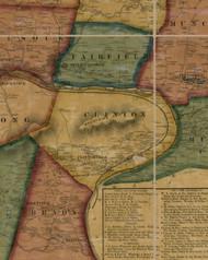 Clinton Township, Pennsylvania 1861 Old Town Map Custom Print - Lycoming Co.