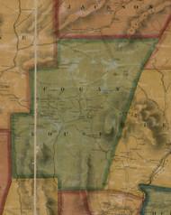 Cogan House Township, Pennsylvania 1861 Old Town Map Custom Print - Lycoming Co.