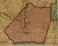 Cummings Township, Pennsylvania 1861 Old Town Map Custom Print - Lycoming Co.