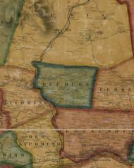 Hepburn Township, Pennsylvania 1861 Old Town Map Custom Print - Lycoming Co.