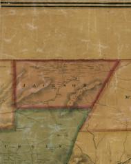 Jackson Township, Pennsylvania 1861 Old Town Map Custom Print - Lycoming Co.