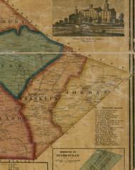Jordan Township, Pennsylvania 1861 Old Town Map Custom Print - Lycoming Co.