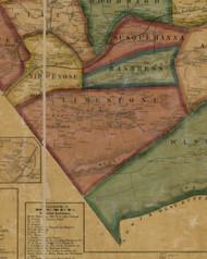 Limestone Township, Pennsylvania 1861 Old Town Map Custom Print - Lycoming Co.