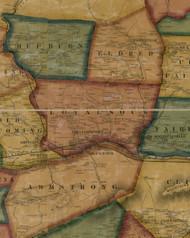 Loyalsock Township, Pennsylvania 1861 Old Town Map Custom Print - Lycoming Co.