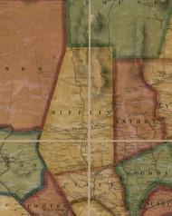 Mifflin Township, Pennsylvania 1861 Old Town Map Custom Print - Lycoming Co.