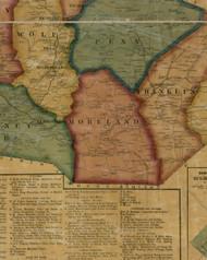 Moreland Township, Pennsylvania 1861 Old Town Map Custom Print - Lycoming Co.