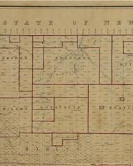 Bradford Township, Pennsylvania 1856 Old Town Map Custom Print - McKean Co.