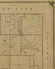 Ceres Township, Pennsylvania 1856 Old Town Map Custom Print - McKean Co.