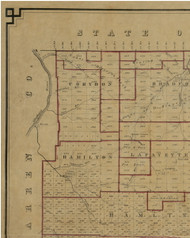 Corydon Township, Pennsylvania 1856 Old Town Map Custom Print - McKean Co.